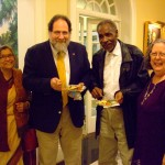 L to R: Arunima Sinha, Jonathan Leader, Omar Shaheed, Holli Emore, at Governor's reception to announce 2014 S.C. Interfaith Harmony Month